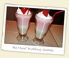 Be Mine Pudding Shakes
