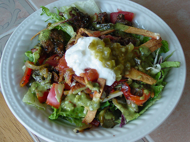 Warm Fajita Salad