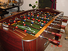 Finished 60in. Foosball table...
