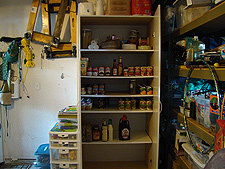 Extra food storage in garage.