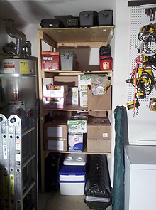 new garage shelving