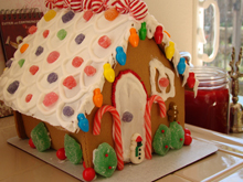 finished gingerbread house
