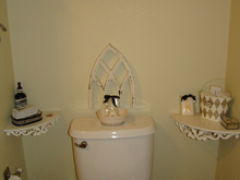 Reorganized bathroom decor