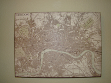 New London map hanging
