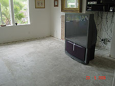 Living room with no carpet.