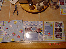 Scrapbook cover and more pages.