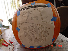 Second Jack-O-Lantern in progress.