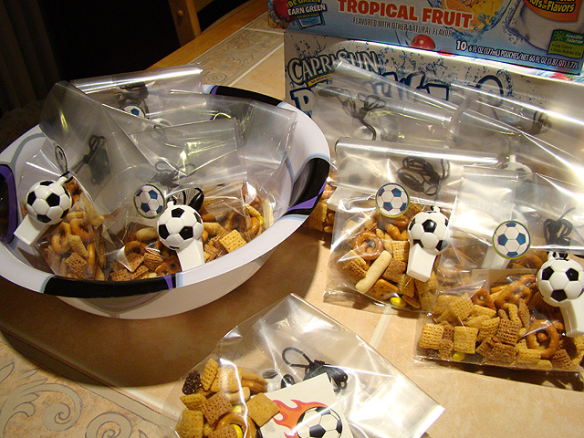 We Added Soccer Whistles And Sealed The Bags With A Sticker For Final Touch